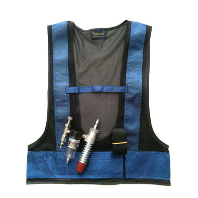 Vortex Tube Cooling Vest with Aluminum Alloy Connector, Portable Air Conditioning Vest for High Temperature Working Environment