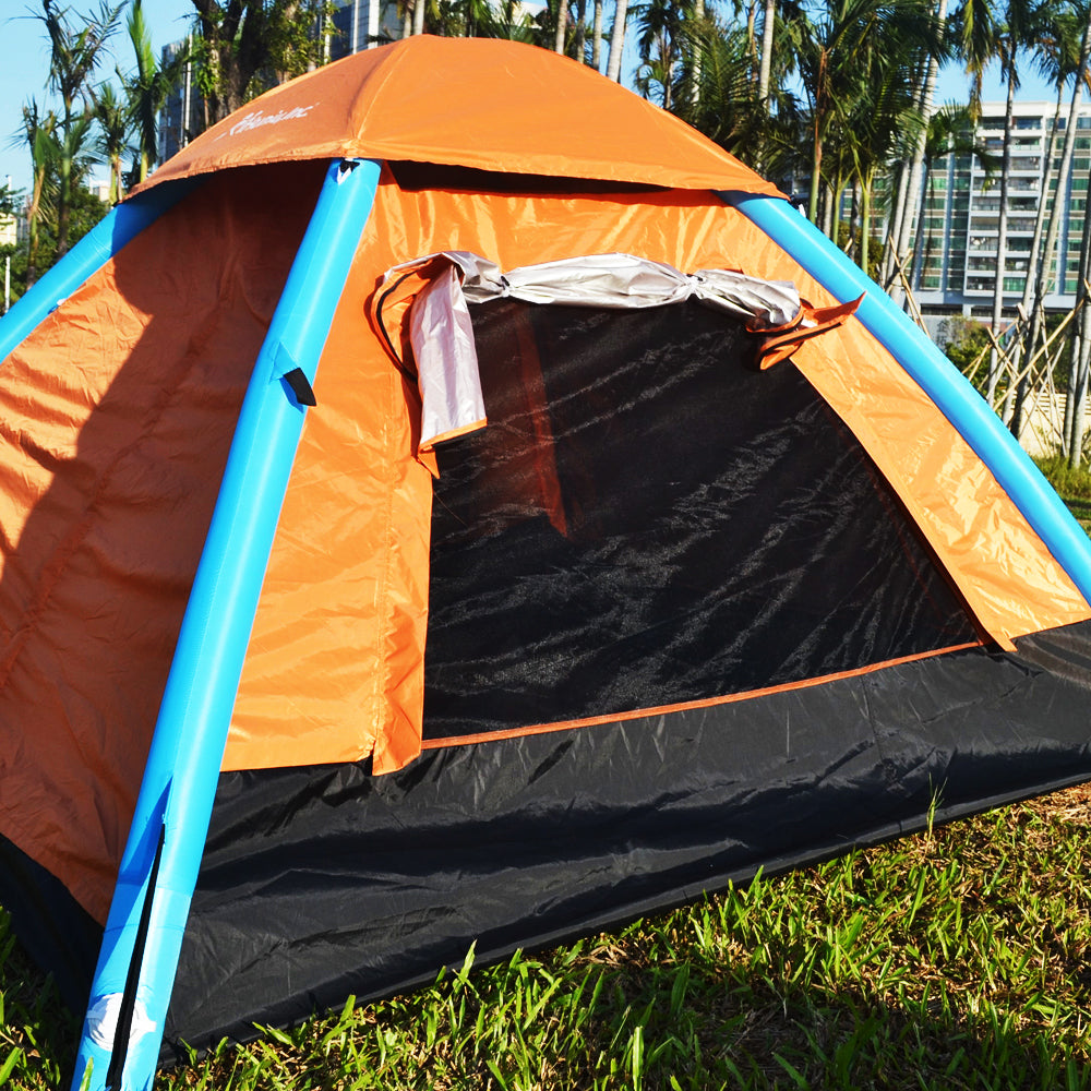 4 person inflatable camping tent pop up waterproof for ...