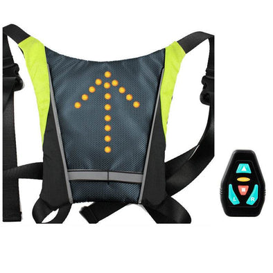 LED Turn Signal Light Reflective Vest Sport Outdoor Waterproof for Night Cycling Running MotorcycleSafety