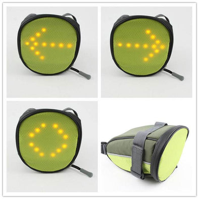 LED Turn Signal Bike Light in  Saddle Bag for Night Cycling Safety