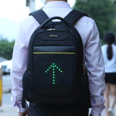 LED Turn Signal Light Reflective Laptop Backpack / Travel / Business / School Bag 20 Liter for Night Cycling Motorcycling Safety