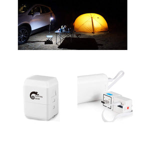 Rechargeable LED Camping Light, Emergency Signal Mini Waterproof Portable Bulb for Hiking Fishing Camping Household Car Repairing