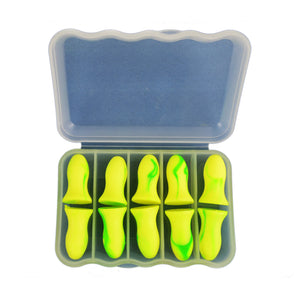 10Pcs Ear Plugs for Sleeping, Protect Ears Away From Snoring, Pets and Neighbours Noisy , Earplugs Help Save Sanity Sleep, Traveling Partner 5Pairs Green