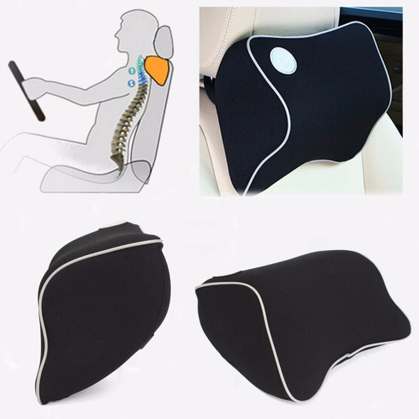 Car Seat Head Neck Rest Massage Memory Foam Cushion  Support Headrest