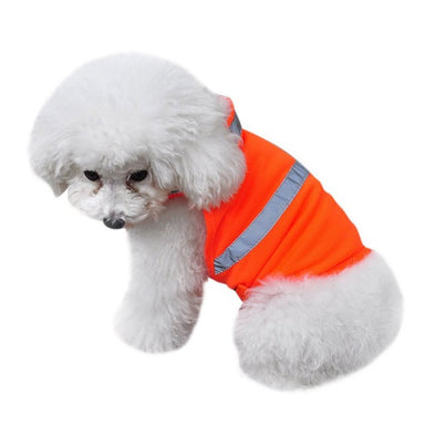 Reflective Vest Dog Safety Luminous Waterproof Puppy Clothing Vest Puppy Dog Car Pet Supplies