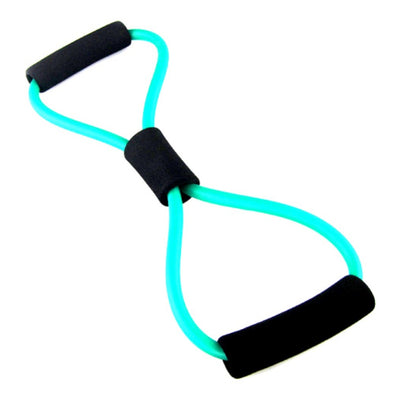 1pc 8 Shaped Elastic Tension Durable Rope Chest Expander Sport Fitness Yoga Pilates Belt Body Shape New Random Color Health Care