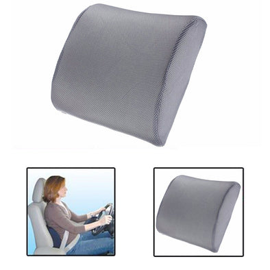 Memory Foam Lumbar Back Support Cushion Pillow for Car Auto Seat Massage Neck Pillow Home Office Breathable Cushion