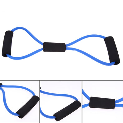 Utility Multi-Color  8 Shaped Elastic Rope Tension Chest Expander Yoga Pilates Sport Fitness Belt Resistance Band