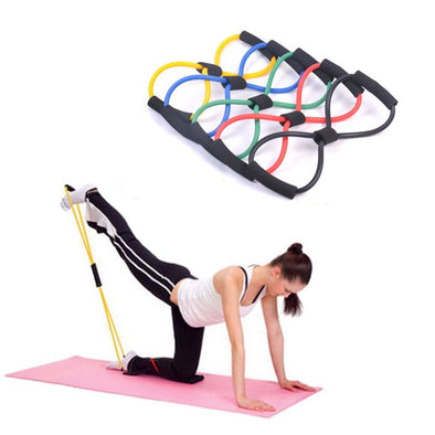 8-shaped Chest Expander Rope Muscle Pulling Exerciser Fitness Yoga Strength Trainning Resist Pulling Exerciser Fitness Equipment