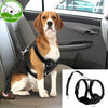Reflective Mesh Nylon Dog Harness With Safety Car Seat Strap Soft Padded Pet Dogs Vest Adjustable Vehicle Seat Belt Set S M L XL