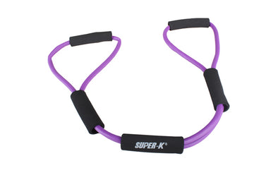 Fitness chest pull resistance bands stretcher rubber hose expander (Purple)