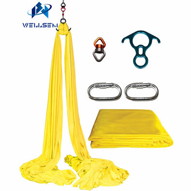 Wellsem 9 Yards Aerial Silks Equipment Anti-gravity Yoga Hammock Swing Yoga  for Acrobatic Gymnastics Flying Dance  Performance