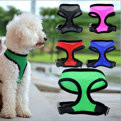 Urijk Medium And Large Pet Dog Harness Vest Reflective Tape Yarn Breathable And Comfortable Mesh Pet Dog Leash Big Dog Harness