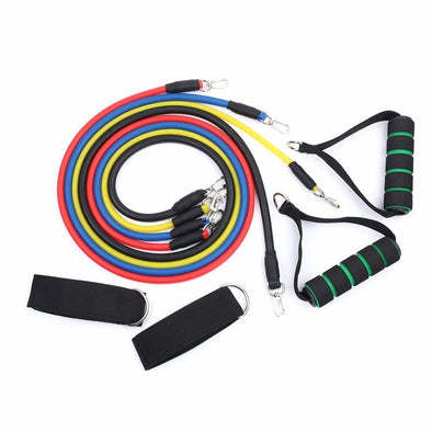 11pcs/set Resistance Bands Fitness Equipments Workout Latex Exercise Pilates Tubes Pull Rope Expanders Training Practical