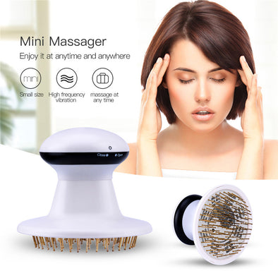 Electric Head Scalp Massager Brain Relaxation To Relieve Stress Therapy Vibration Massage Hair Loss Weight Loss Fat Reducing