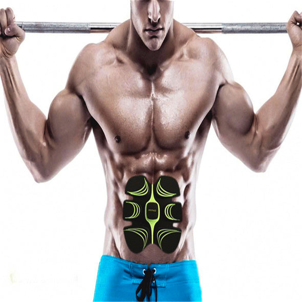1set Smart Electronic ABS Abdominal Muscle Building Body Fitness Gel Tape Belt Fit Muscle Stimulator Massage Machine