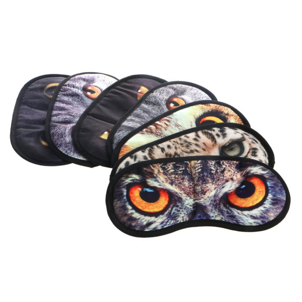 Hot! Fashion Cute Animal Sleeping Eye Mask Blindfold Relax Sleep Travel Covers Eye-shade