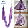 5m sets lavender purple color flying Yoga Hammock Swing Trapeze Anti-Gravity Inversion Aerial Traction Devicefor home& studio