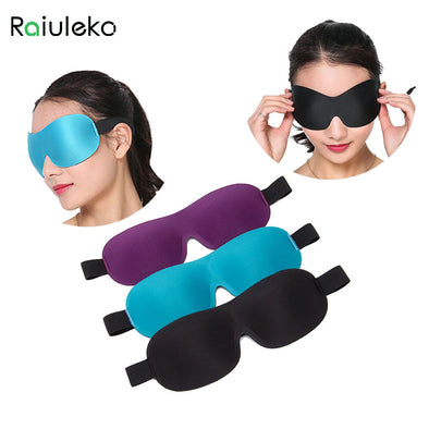3D Sleep Mask Black Eyeshade Cover Natural Sleeping Eyes Mask Men Women Travel Eye Patch Aid Relax Rest Blindfold Eyepatch tool