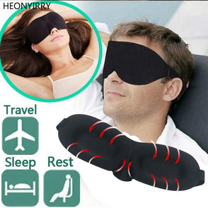 D Portable Soft Travel Sleep Rest Aid Eye Mask Cover Eye Patch Sleeping Mask