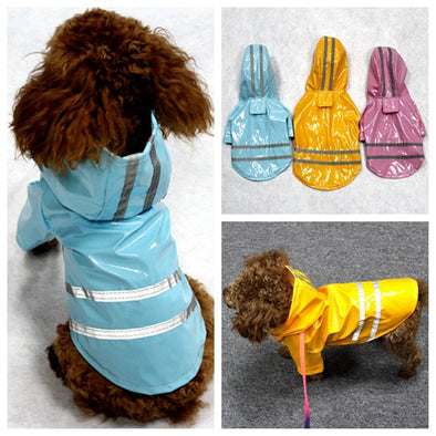 Waterproof Reflective Safety Vest Pet Dog Clothes For Small Dog Raincoat Hoodies Rain Chihuahua Pet Apparel Dog Clothing 9BY40
