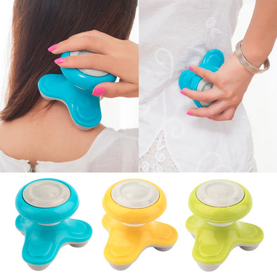 Mini Electric Handled Wave Vibrating Massager USB Battery Full Body Head Neck Back Massage Ultra-compact Lightweight Portable