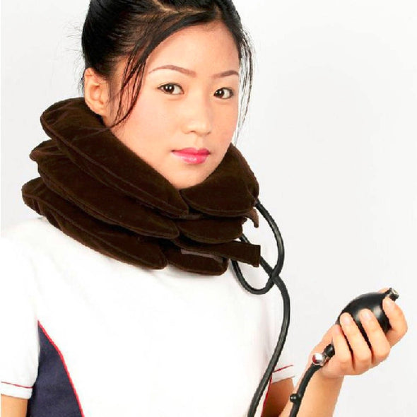 neck cervical traction device inflatable collar household equipment health care massage device nursing care drop shipping