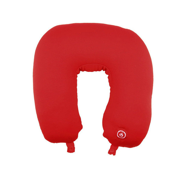 Travel Accessories Other Health Care Supplies U Shaped Travel Pillow Neck Massage Cushion Battery Operated Stress Bead Relief