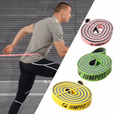 1pc Unisex Fitness Equipment Dual Color Resistance Bands Physio Expander Rubber Band Pull Up Crossfit for Exercise Pilates