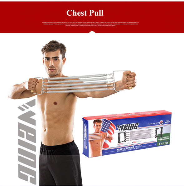 Plastic Handle 150cm 60kg Chest Pull Expander Fitness Resistance Bands Puller Strength Exercise