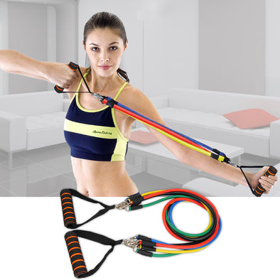 Women's Chest Expander Puller Exercise CrossFit Muscle Training Rope Fitness Resistance Cable Rope Tube Resistance Bands