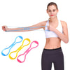 1PCS Silicone Yoga Drawstring Chest Expander Silicone Fitness Elastic Drawcord 8 slimming for weight loss