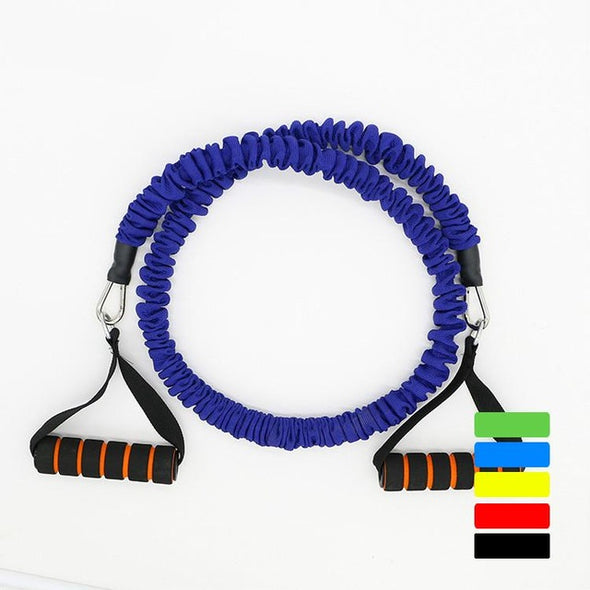 Fitness Chest Expander Pilates Resistance Bands Portable Puller Sports Exercise Muscle Training Rope Yoga Cable Tube 20 LB 1.2 m