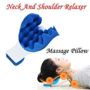 Neck And Shoulder Relaxer Pillow Neck Pain Relief Massage Pillow Neck Support Cushion Drop Shipping