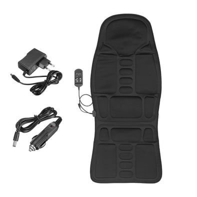 Autoleader Multifunctional Car Chair Body Massage Heat Mat Seat Cover Cushion Neck Pain Lumbar Support Pad Back