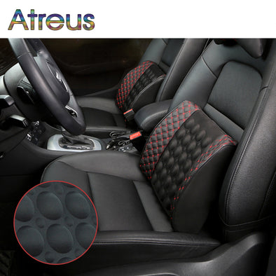 Atreus 12V car seat massage lumbar support cushion for BMW E46 E60 Ford focus 2 Kuga Mazda 3 cx-5 Volkswagen Polo Golf 4 6 GTI