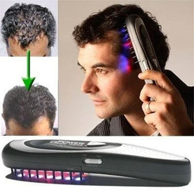 1pcs Laser Treatment Black Hair Loss Stop Regrow Therapy By Power Massage Grow Comb Brush Kit Barber Tools