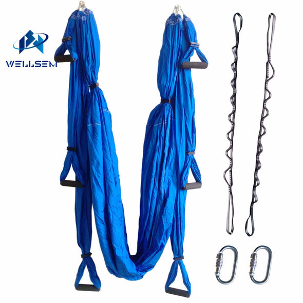 Leisure Decompression Hammock Inversion Trapeze Anti-Gravity Aerial Traction Yoga Gym Swing Hanging + Daisy Chain+Carabiners
