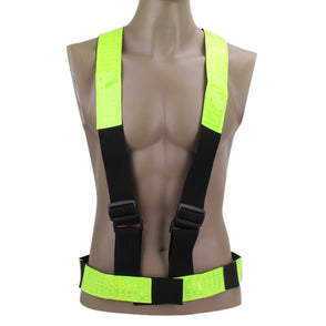 Cycling Vest Multi Adjustable Outdoor Safety Visibility Reflective Vest Gear Stripes EA14