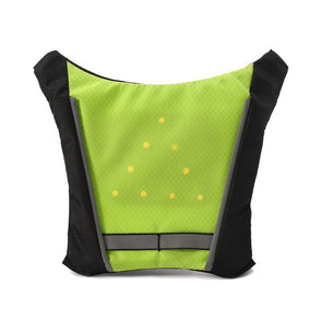 Cycling Vest Outdoor Warning LED Light Safety Jacket Single Signal Reflective