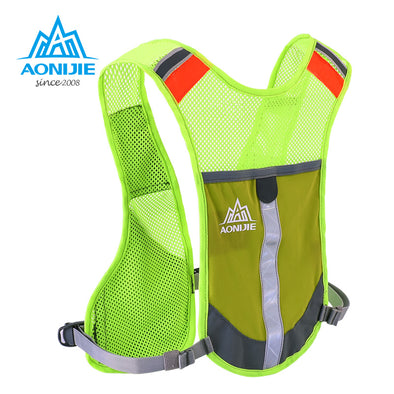 AONIJIE Running Backpack 3L Running Night Reflective Vest Hiking Bag Outdoor Cycling Marathon 4 Colors