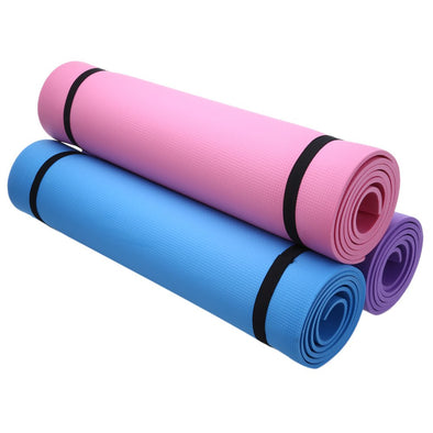 68 x 24 inches 3 colors optionsYoga Mat Exercise Pad 6MM Thick Non-slip Gym Fitness Pilates Supplies