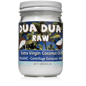 (4 Jars) Dua Dua Organic Raw Extra Virgin Coconut Oil 12 oz FREE SHIPPING!