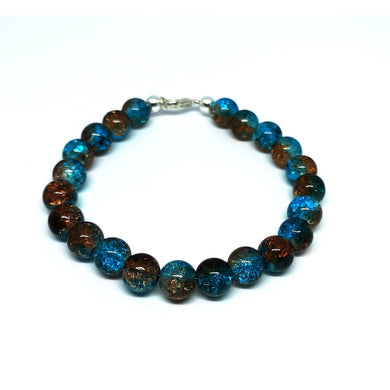 Ocean inspired glass bead bracelet - M.A.D