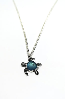 Glass Shell Turtle Necklace - M.A.D
