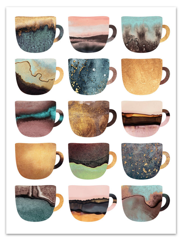 Pretty Coffee Earthy Cups