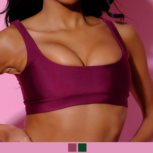 Top-Ariel Top-Siberica Swim-Only Top Match with Bottom to complete the look Color: bordeaux or dark green Bandeau top Top padded High quality double fabric with lining Model wears size Medium Bikini for woman Brand: Siberica Swim Care Instructions-S Green-