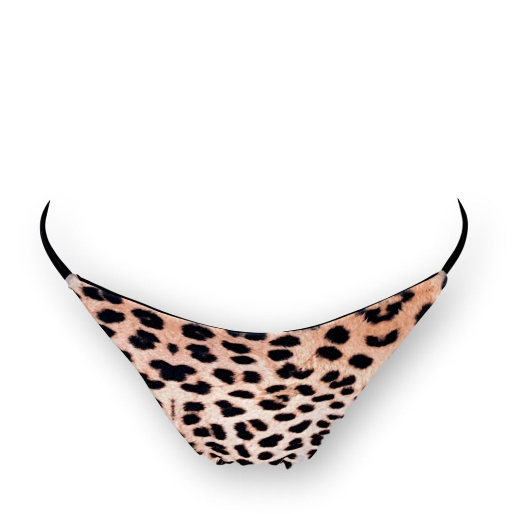 BottomOutlet-Animalier Slip-Siberica Swim-Only Bottom Match with Top to complete the look Brazilian bottom High quality double fabric with lining Model wears size M Bikini for woman Brand: Siberica Swim Care Instructions-L-