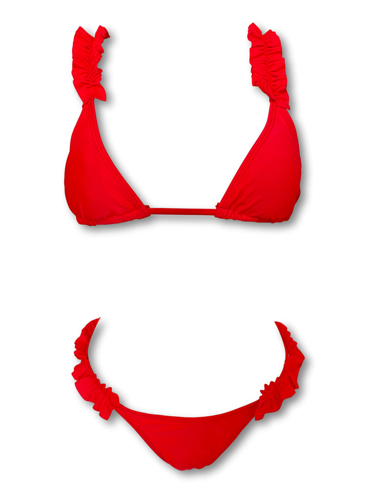 mw_grouped_product, Outlet-Maldive Red-Siberica Swim-Bikini Set Top & Bottom Top padded removable Neck & back ties Brazilian bottom Model wears size S Bikini for woman Brand: Siberica Swim Care Instructions-