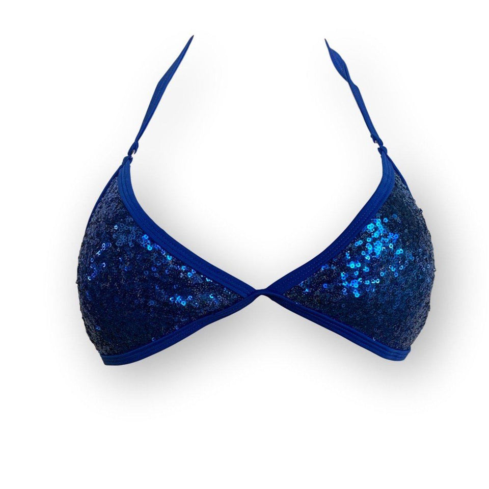 TopOutlet-Ibiza Blue Top-Siberica Swim-Only Top Match with Bottom to complete the look Top padded removable Neck & back ties High quality double fabric with lining Model wears size M Bikini for woman Brand: Siberica Swim Care Instructions-S-